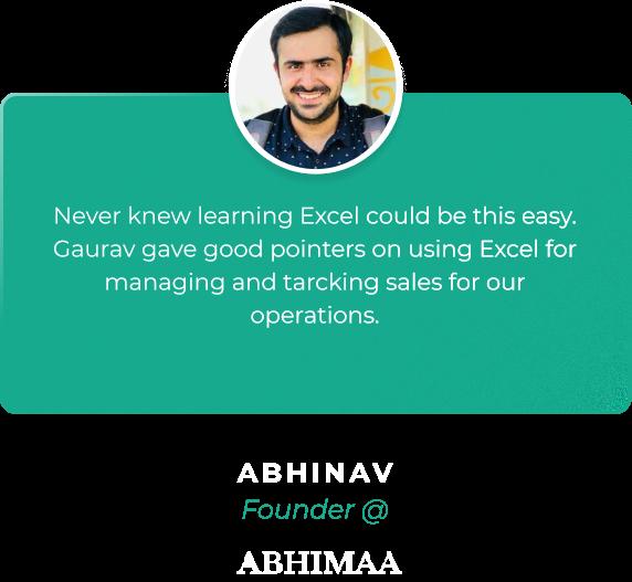 Eduolio Home Page Testimonial Abhinav Bhasin