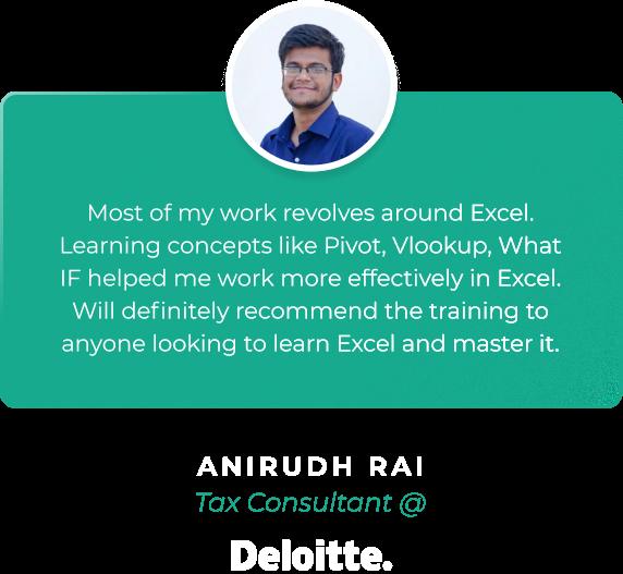 Eduolio Home Page Testimonial Anirudh